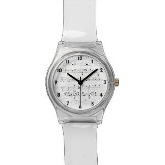 Reloj De Pulsera Partitura blanca