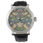 Reloj De Pulsera Patrón floral William Morris Strawberry Thef