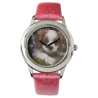 Reloj De Pulsera Perrito arrogante del perro de aguas de rey
