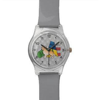 Reloj De Pulsera Perro de la agilidad del golden retriever
