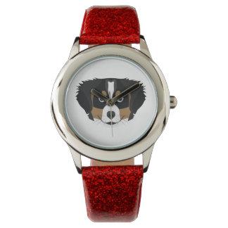 Reloj De Pulsera Perro de montaña de Bernese del ilustracion
