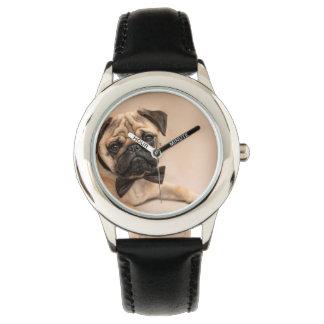 Reloj De Pulsera Perro del barro amasado del cervatillo con la