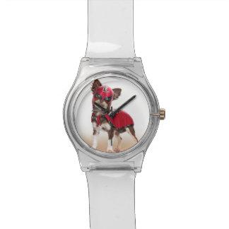 Reloj De Pulsera Perro del libre de Lucha, chihuahua divertida,