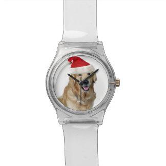 Reloj De Pulsera Perro-mascota de Labrador navidad-santa Claus