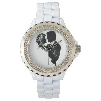 Reloj De Pulsera personalizado, blanco, diamantes artificiales,