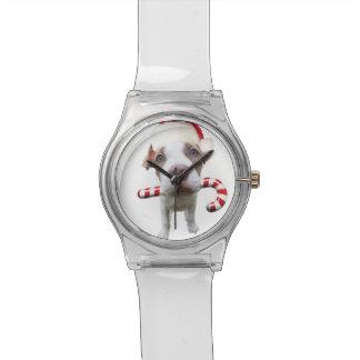 Reloj De Pulsera Pitbull del navidad - pitbull de santa - perro de