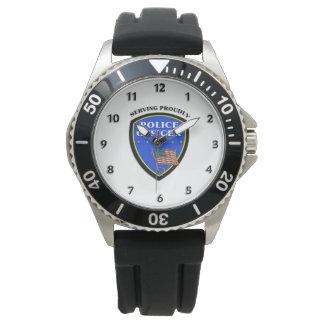 Reloj De Pulsera Policía que sirve orgulloso