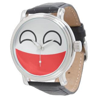 Reloj De Pulsera Polonia Geeky que tiende divertida Countryball