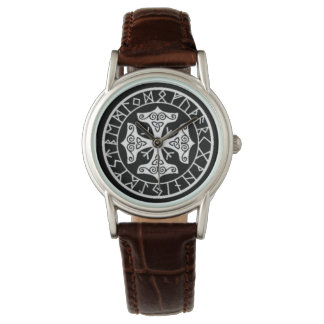 Reloj De Pulsera Protección del talismán de las runas de la