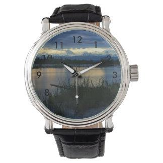 Reloj De Pulsera Puesta del sol de la medianoche de Denali