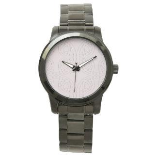 Reloj De Pulsera Pulsera negra siempre de gran tamaño ENOJADA de