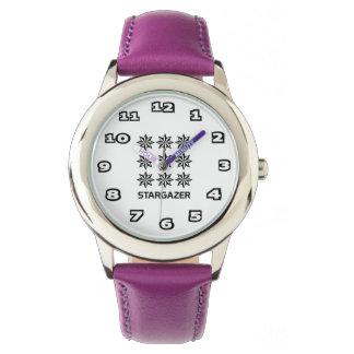 Reloj De Pulsera Púrpura del acero inoxidable del niño del