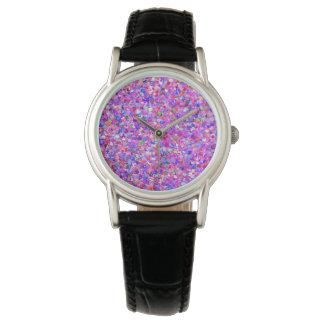 Reloj De Pulsera Purpurina moderno #3 de la arena del mosaico