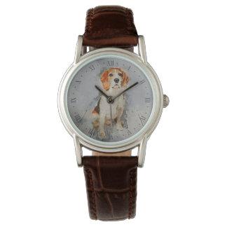 Reloj De Pulsera Retrato lindo del beagle