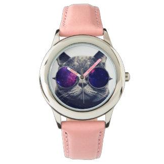 Reloj De Pulsera Rosa de encargo del acero inoxidable