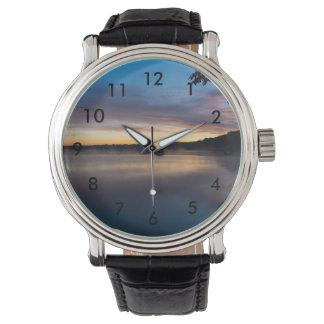 Reloj De Pulsera Salida del sol del otoño de Springfield del lago