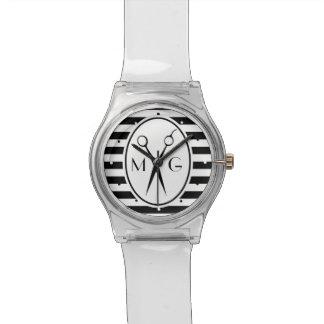 Reloj De Pulsera Scissor la peluquería de caballeros del estilista