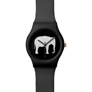 Reloj De Pulsera Silueta del elefante asiático