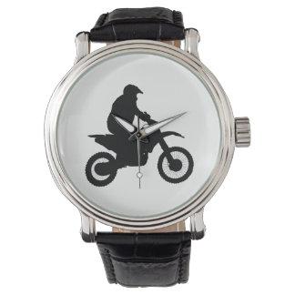 Reloj De Pulsera Silueta del motocrós
