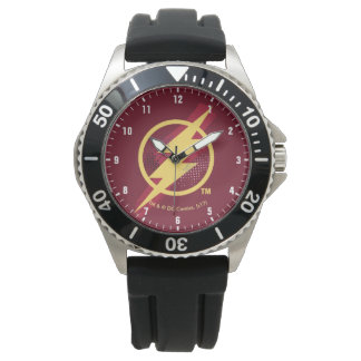 Reloj De Pulsera Símbolo de destello del cepillo y del tono medio