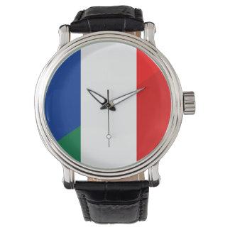 Reloj De Pulsera símbolo del país de la bandera de Italia Francia