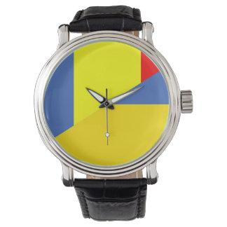 Reloj De Pulsera símbolo del país de la bandera de Rumania Ucrania