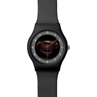 Reloj De Pulsera Símbolo metálico del superhombre de la liga de