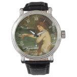 Reloj De Pulsera Sirena por el Waterhouse de JW, arte de la
