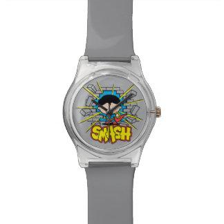 Reloj De Pulsera Superhombre de Chibi que rompe a través de la