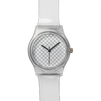 Reloj De Pulsera Tablero de damas gris claro