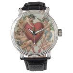 Reloj De Pulsera Tarjetas del día de San Valentín del Victorian del