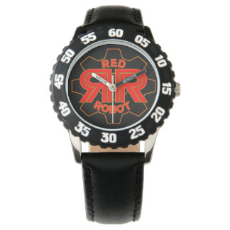Reloj De Pulsera Tiempo rojo del robot