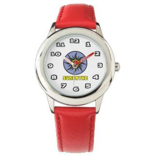 Reloj De Pulsera Toma el sol el rojo del acero inoxidable del niño