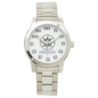 Reloj De Pulsera Toma el sol la pulsera de plata de gran tamaño de