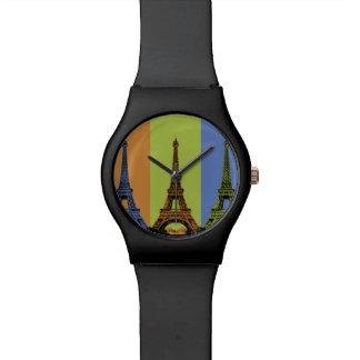 Reloj De Pulsera Torre Eiffel en el tríptico de París