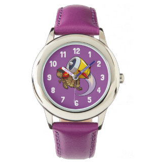 Reloj De Pulsera Tortuga del vuelo del temerario con un dibujo
