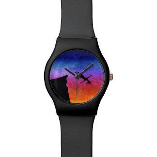 Reloj De Pulsera Unicornio de la zambullida del acantilado