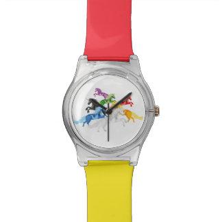 Reloj De Pulsera Unicornios salvajes coloridos del ejemplo