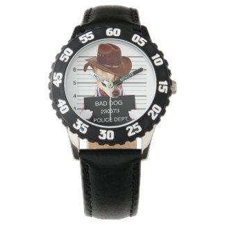 Reloj De Pulsera vaquero de la chihuahua - perro del sheriff