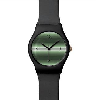 Reloj De Pulsera Verde del arbolado