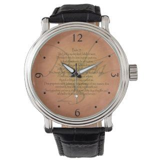 Reloj De Pulsera Verso cristiano de la biblia del salmo 23 KJV