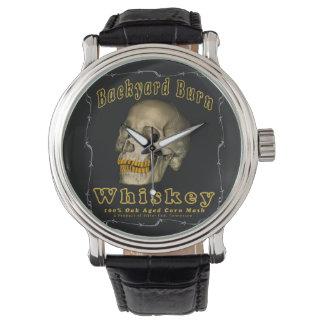 Reloj De Pulsera Whisky de la quemadura del patio trasero