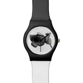Reloj De Pulsera Wildflower del carbón de leña