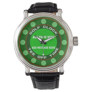 Reloj de reloj del golf