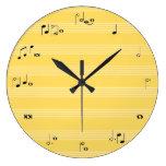 Reloj de tiempo de la nota de la música - amarillo