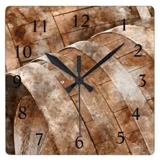 Reloj de tiempo del vino del barril de vino del