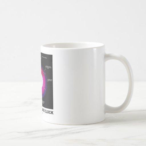 Reloj de tiempo geológico (geología) taza básica blanca