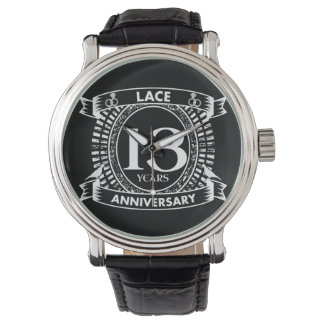 Reloj décimotercero cordón del aniversario de boda