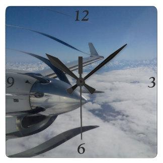 Reloj Cuadrado Reloj deformado del propulsor