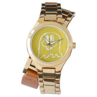 Reloj del acero inoxidable del 鬼鬼 del oro